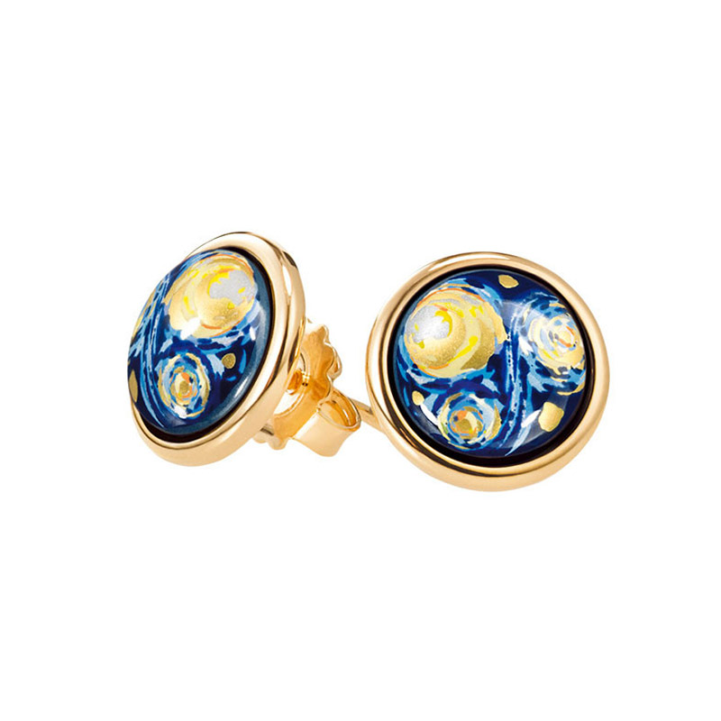 Hommage à Vincent Van Gogh Eternite Cabochon Stud Earrings