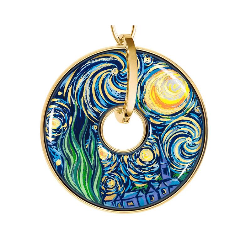 Hommage à Vincent Van Gogh Éternite Luna Piena Pendant