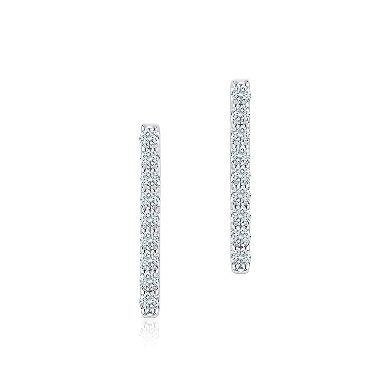 Birks Rosee Du Matin|Diamond Bar Earrings