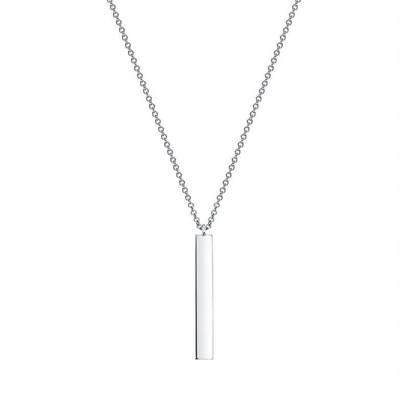 Birks Essentials|Silver Vertical Bar Necklace