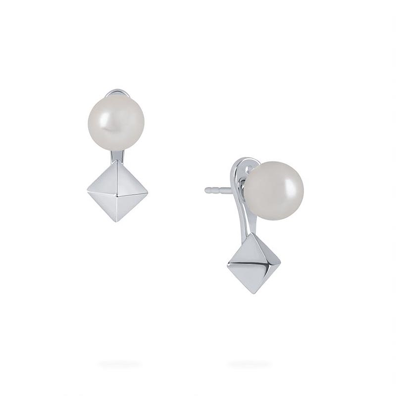 Birks Rock and Pearl|Freshwater Pearl and Stude Jacket Earrings