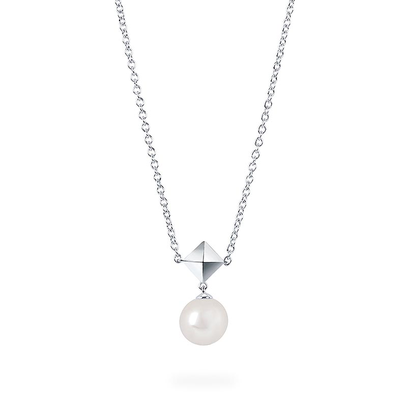 Birks Rock and Pearl|Freshwater Pearl and Stud Drop Pendant