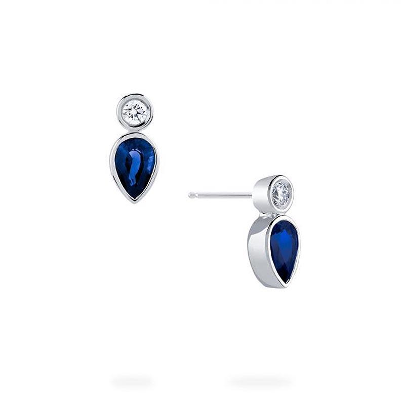 Birks Splash Collection|Diamond and Sapphire Stud Earrings