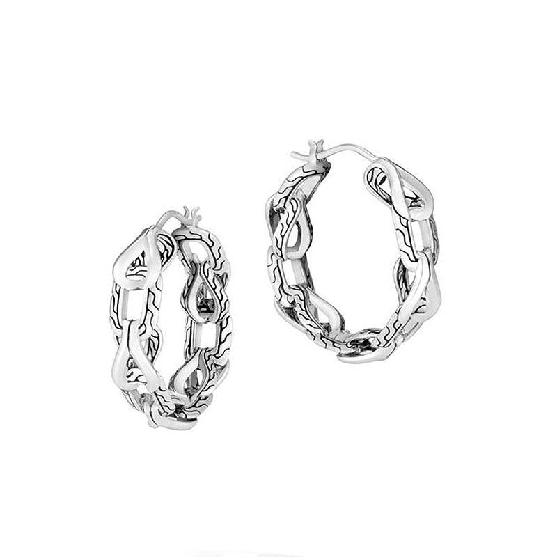 Asli Classic Chain Link Small Hoop Earrings