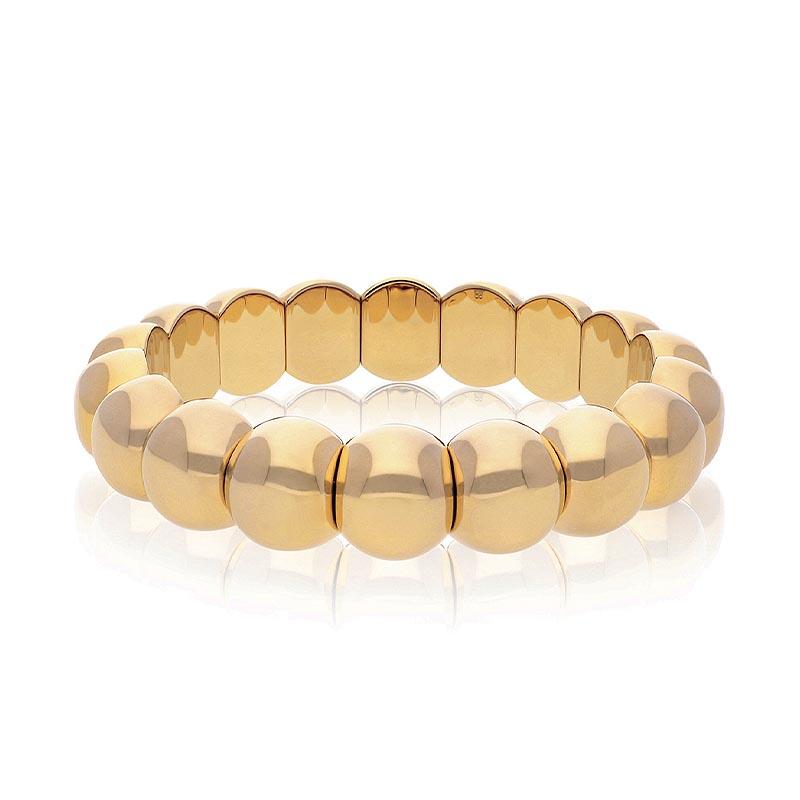 Aura Dama Ceramic Bracelet with 18K Yellow Gold Overlay