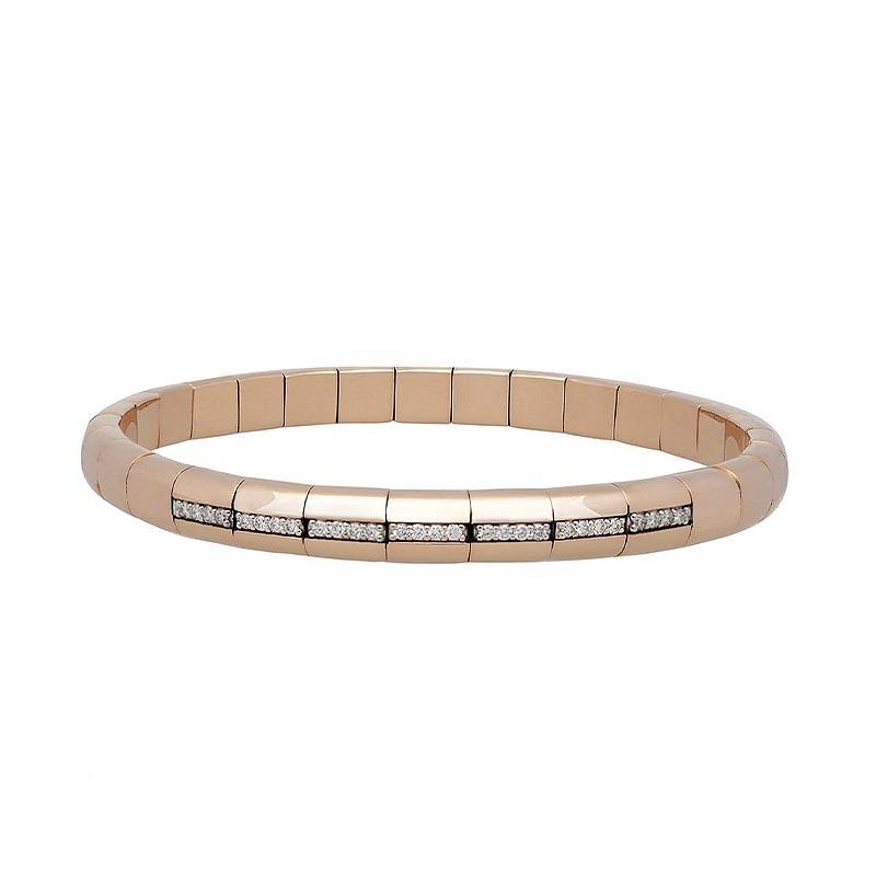 Pura Luce 18K Rose Gold and Diamond Bracelet